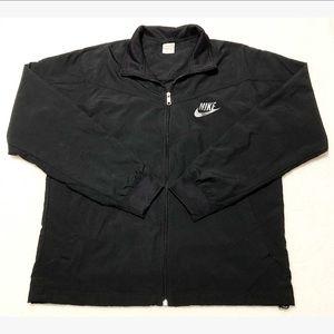 Nike Zip Up Windbreaker Jacket Mesh Lining Black